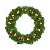 杉木分支大圆的花圈与欢乐装饰的 查出 皇族释放例证