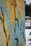 杉木墙壁 免版税库存照片