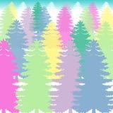 杉树五颜六色的背景传染媒介 免版税库存图片