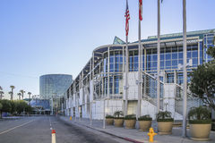 洛杉矶会议中心全景  免版税库存照片