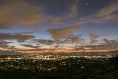 洛杉矶冬天日出 库存照片