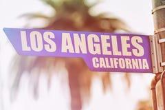 洛杉矶加利福尼亚路牌 免版税库存照片