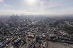 洛杉矶唐人街下午天线 免版税库存照片