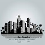 洛杉矶市剪影 免版税库存图片