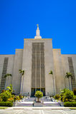洛杉矶摩门教LDS寺庙加利福尼亚 免版税库存图片