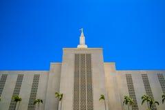 洛杉矶摩门教LDS寺庙加利福尼亚 免版税图库摄影
