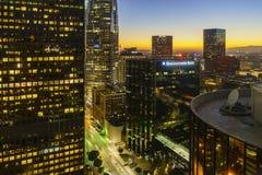 洛杉矶美好的街市都市风景  图库摄影