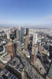 洛杉矶街市下午天线 免版税库存图片
