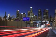 洛杉矶街市nightscene 免版税图库摄影