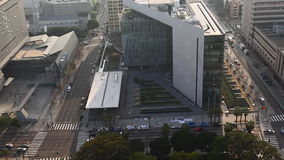 洛杉矶警察局(LAPD)大厦的一张鸟瞰图 影视素材