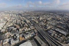 洛杉矶跨境10条高速公路天线 库存图片