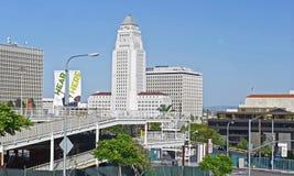 洛杉矶香港大会堂看法从距离的 库存图片