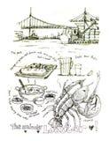洛杉矶,加利福尼亚海鲜龙虾 库存照片