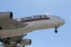 新加坡航空空中客车A-380 库存照片