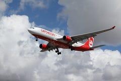 柏林航空空中客车A330-223 免版税库存图片
