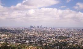洛杉矶,加利福尼亚 大城市的壮观的全景 免版税库存图片