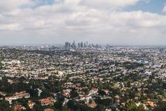 洛杉矶,加利福尼亚 从高度的看法 免版税库存图片