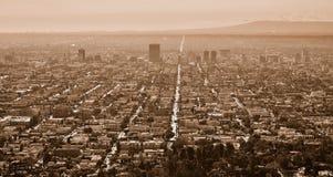 洛杉矶,美国鸟瞰图  库存照片