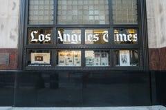 洛杉矶,美国- 2016年8月8日:洛杉矶时报大厦,第1和春天街道位于街市洛杉矶, ope 免版税图库摄影