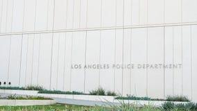洛杉矶,美国- 2016年8月8日:洛杉矶街市警察局大厦好的外部设计建筑学  免版税图库摄影