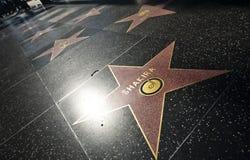 洛杉矶-在好莱坞星光大道的夏奇拉星 库存照片