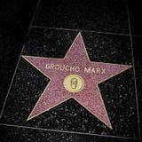在名望好莱坞步行,洛杉矶的Groucho马克思星,团结 免版税库存图片