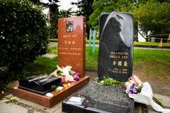李小龙和李国豪墓地 免版税库存照片