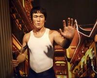 李小龙蜡雕象好莱坞蜡博物馆 库存照片