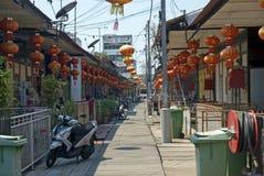 李跳船,乔治城,槟榔岛,马来西亚 免版税库存照片