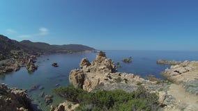 李Cossi海滩肋前缘Paradiso撒丁岛海岛意大利 影视素材