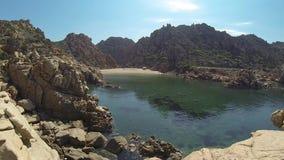 李Cossi海滩肋前缘Paradiso撒丁岛海岛意大利 股票视频