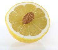 杏仁柠檬 库存图片