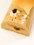 杏仁蛋糕咖啡 库存照片