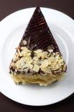 杏仁蛋糕巧克力 免版税库存图片