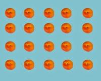 杏子对称有蓝色背景 免版税库存图片