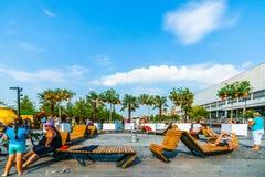 杏子海滩在莫斯科Museon公园  免版税库存图片