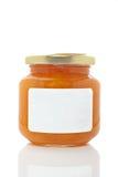 杏子玻璃瓶子 免版税库存图片