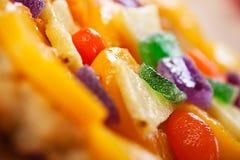 杏子蛋糕 免版税库存图片