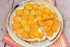 杏子馅饼 库存图片