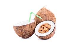 杏仁、牛奶和椰子 库存照片