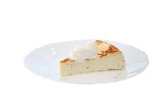 村庄乳酪蛋糕用普通话和坚果 库存图片
