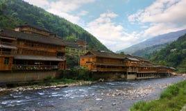 村庄在中国 免版税库存照片