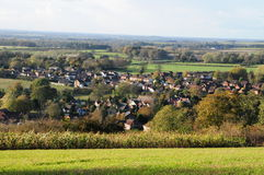 村庄在乡下 库存照片