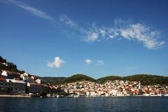 村庄在克罗地亚 免版税库存图片