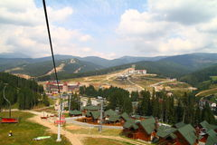 村庄在喀尔巴阡山脉 库存照片