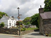 村庄在威尔士 库存照片