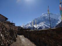 村庄在尼泊尔, anapurna区域 免版税库存图片