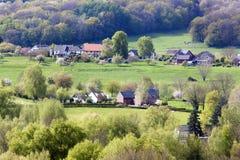 村庄在林堡省 库存照片