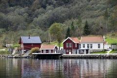 村庄在海湾 库存照片