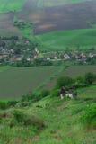 村庄在特兰西瓦尼亚,罗马尼亚 免版税库存图片